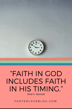 """""""Faith in God includes Faith in HIS timing."""""""